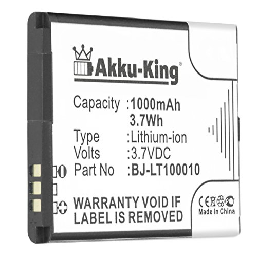 Akku-King Akku kompatibel mit Panasonic BJ-LT100010 - Li-Ion 1000mAh - für KX-TU327, KX-TU327EX, KX-TU327EXBE, KX-TU328, KX-TU328EX, KX-TU328EXBE