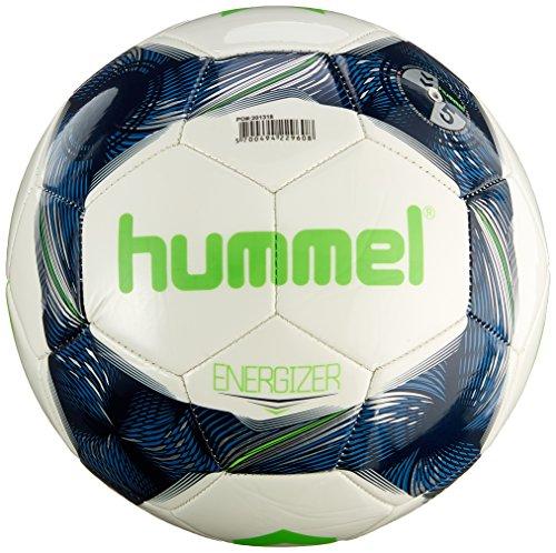 hummel Kinder Energizer FB Fussball, White/Vintage Indigo/Green, 4