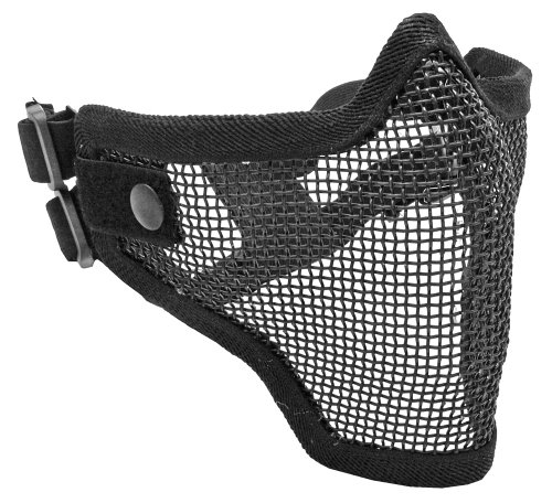 Tactical Crusader 2G Airsoft Strike Steel Half Mask, Black