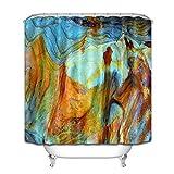 WGEMXC Vorhang, Badezimmer-Vorhang, Naturfarbene Steinbeschaffenheit Duschvorhang Liner Wasserdichte 183X183Cm