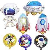 CUIZC Globo espacial con forma de cohete, astronauta para habitación infantil, fiesta de cumpleaños, vacaciones, decoración
