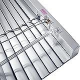 JalouCity Aluminium Jalousie, hochwertige Klemmfix Alu-Jalousie in Silber mit Zugschnur und Drehstab, Jalousette mit Lamellen für den Innen-Bereich, schnelle und einfache Montage, 40 x 150 cm