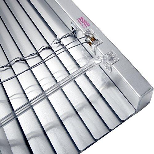 JalouCity Aluminium Jalousie, hochwertige Klemmfix Alu-Jalousie in Silber mit Zugschnur und Drehstab, Jalousette mit Lamellen für den Innen-Bereich, schnelle und einfache Montage, 120 x 180 cm (BxH)