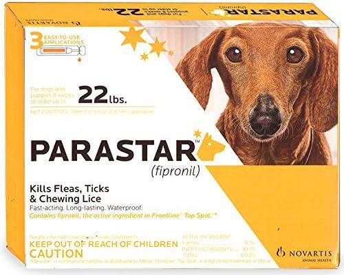 Parastar Novartis 3pk Flea and Tick for Dogs Control Detroit Mall 22lbs Under safety