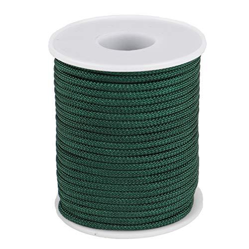McFanBe Cordel de Nailon para Collar Pulsera Fabricación de Joyas Accesorios para Manualidades (2.8mm-65feet, Verde Oscuro)