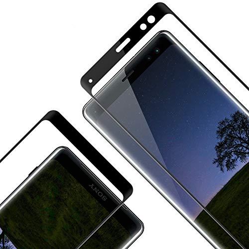 Vetro Temperato per Sony Xperia XZ3, [2 Pezzi][Copertura Completa][0,33mm Ultra Trasparente] [durezza 9H] [Nessuna Bolla] [Anti-Impronte][Anti graffio] Pellicola Protettiva per Sony XZ3