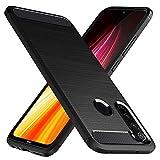 Peakally Cover Xiaomi Redmi Note 8, Fibra di Carbonio Morbido TPU Custodia Cover Anti Scivolo...