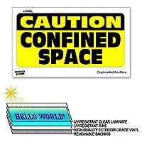 ×6で省スペース12閉じ込められた注意 - ラミネート符号ウィンドウビジネスステッカー