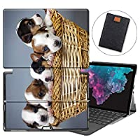 MAITTAO Microsoft Surface Pro 6 case 2018, Compatible with Type Cover Keyboard Stand Smart Case for Surface Pro 6 / Pro 5 2017 / Pro 4 / Pro LTE 12.3-inch Tablet Sleeve Bag 2 in 1, Cute Dog 16