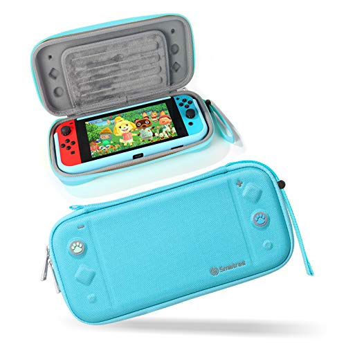 Smatree Estuche para Nintendo Switch, Funda Portátil de Viaje Delgado y Rígido Compatible con la Consola Switch y 10 Tarjetas de Juego