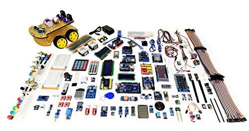 GAR Colossus Starter Kit for Arduino Uno Mega Nano Complete Advanced Set, 5 Main Boards - 30 Sensors, 10 Shields w/ ESP32 WiFi + Bluetooth Modules for Wireless Robotics Smart Car