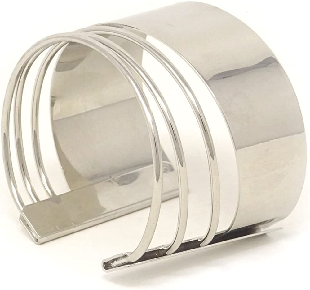 Yueton Metal Thin Super popular specialty store Hammered Cuff Bracelet Bunch Rapid rise