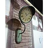 Tqbzs Loft Reloj de Pared Decoraciones de Pared Estilo Industrial Retro Faro de farola Restaurante de cafetería