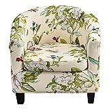 Silla de silla de la bañera Descubrimiento de 2 piezas Cubierta de silla de club impreso con cubierta de cojín Silla suave Spandex Redonda Silla