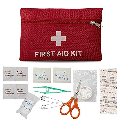 Erste Hilfe Set Reise Notfalltasche Wasserdicht Erste Hilfe Tasche 18 Stück Mini Small First Aid Kit, Sport Verbandtasche Erste Hilfe Tasche für Haus, Fahrzeug, Reise, Büro, Arbeitsplatz