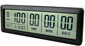Digital 999 Days Countdown Timer Display time for Retirement Vacation Exam Wedding lab Kitchen Project Meeting(2C Batteries Included)/Black