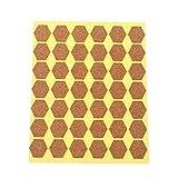 Beyonday 1 Set hecho a mano madera de pino regalo embalaje galletas bolsas de cocina clasificación, etiquetas etiquetas etiquetas etiquetas engomadas (Hexagonal (42pcs))