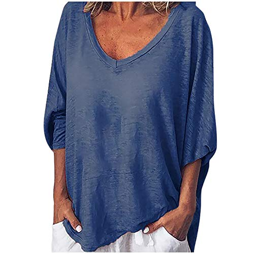 Gemi Long Sleeve Shirts for Women V Neck Casual Loose Fit Fall Basic Tee Tops Cute Soft Tees Blouses Pullovers Tunic Tops