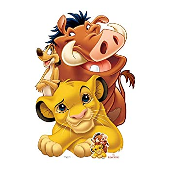 Star Cutouts SC1420 Group  Simba Timon and Pumbaa  Cardboard Cut Out Perfect for Lion King Safari Theme Parties and Event 135cm/4ft 5inTall mutlicolour