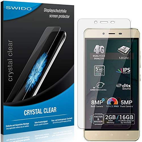 SWIDO Bildschirmschutz für Allview P7 Pro [4 Stück] Kristall-Klar, Hoher Festigkeitgrad, Schutz vor Öl, Staub & Kratzer/Folie, Schutzfolie, Bildschirmschutzfolie, Panzerglas Folie