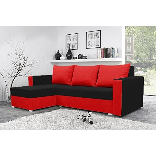 Red Black Sofa Bed Amazon Co Uk