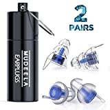 2 Pairs of Concert Earplugs - High Fidelity Ear Plugs for Concerts, Musicians, Work and More - Hearing Protection High Fidelity Earplugs with 23db Advanced Filter - Soft and Reusable