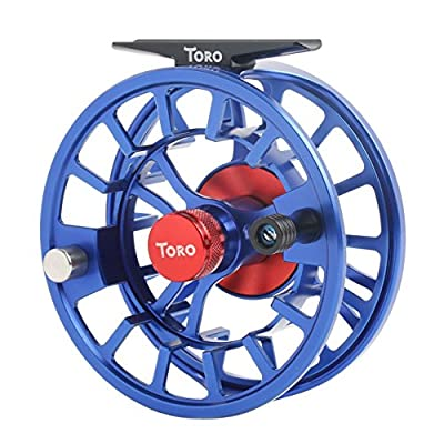 Maxcatch Toro Series Fly Reel with CNC-machined Aluminum Alloy Body,Large Arbor Fly Fishing Reel 3/4, 5/6,7/8wt(Black,Green,Blue) from Maxcatch