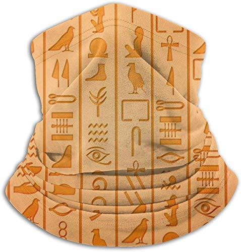 Hgbygvuy Fleece Neck Warmer Gaiter Egyptian Hieroglyphics