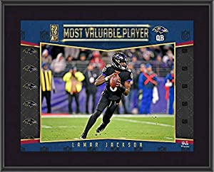 "Lamar Jackson Baltimore Ravens 2019 NFL Most Valuable Player 10.5"" x 13"" Sublimated Plaque - NFL Player Plaques and Collages"