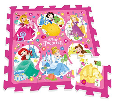 TP880002   Puzle de Suelo (9 Piezas, 88 x 88 cm), diseño de Princesas Disney