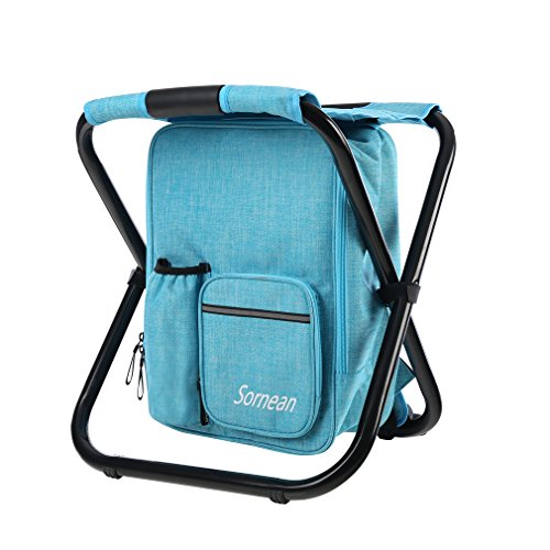 sornean Large Detachable Multi-Function Backpack Folding Chair with...