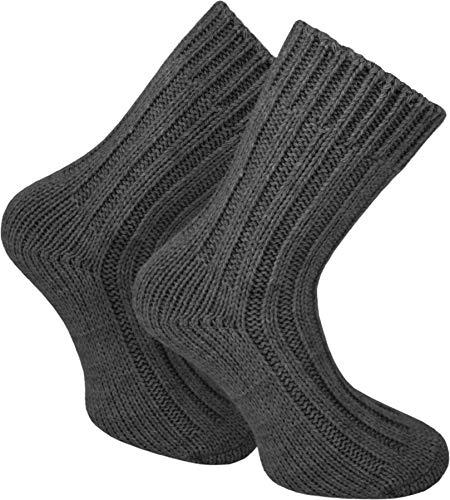 normani 2 Paar Sehr Dicke Flauschige Alpaka Socken Wintersocken Farbe Anthrazit Größe 39/42
