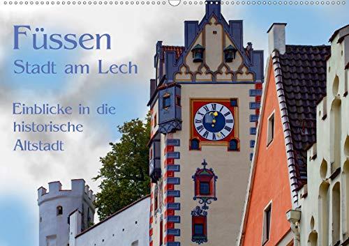 Füssen - Stadt am Lech (Wandkalender 2021 DIN A2 quer)