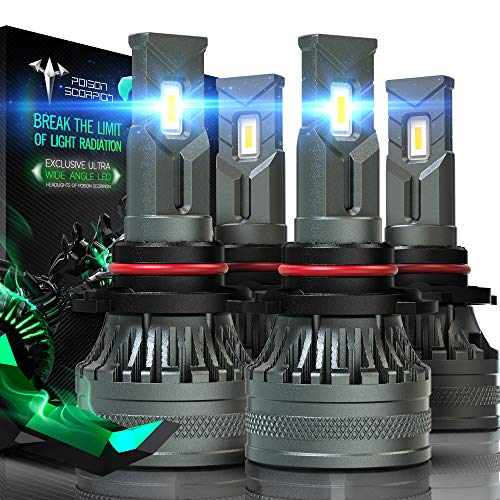 POISON SCORPION 9005 9006 LED Bulbs Combo | Extremely Bright