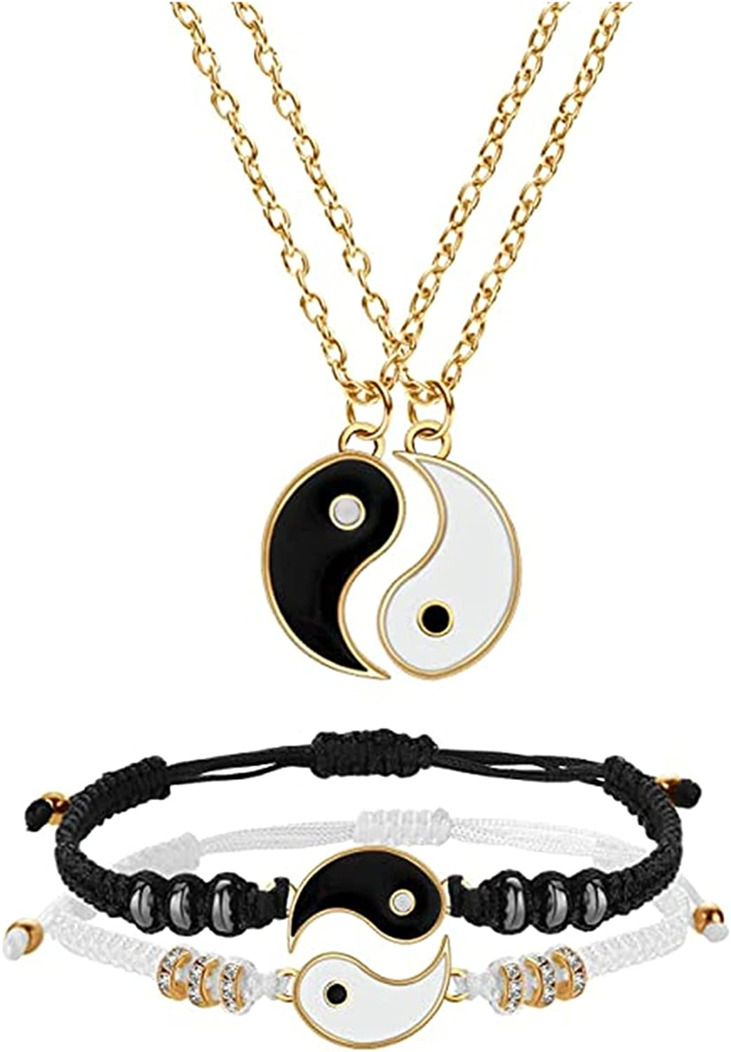 3~4 Pcs Yin Max 51% Max 85% OFF OFF Yang Chain Matching Bracelets Set Earrings Necklaces