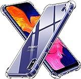 ivoler Funda para Samsung Galaxy A10, Carcasa Protectora Antigolpes Transparente con Cojín Esquina Parachoques, Flexible Suave TPU Silicona Caso Delgada Anti-Choques Case Cover