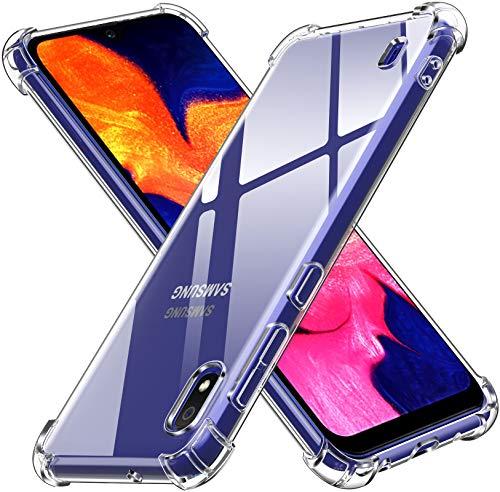 iVoler Cover per Samsung Galaxy A10, Custodia Trasparente per Assorbimento degli Urti con Paraurti in TPU Morbido, Sottile Morbida in Silicone TPU Protettiva Case