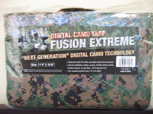 Military Outdoor Clothing 12 x 16 MARPAT Field Tarp, Digital Woodland Camo/Coyote Brown