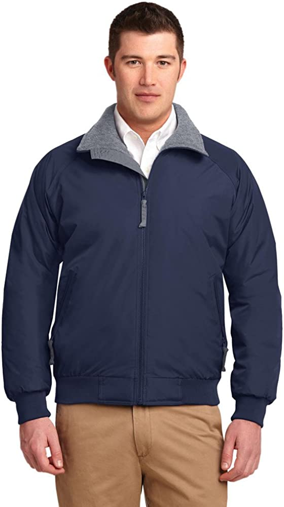 Port Authority Tall Challenger Jacket, True Navy/Grey Heather, X-Large Tall
