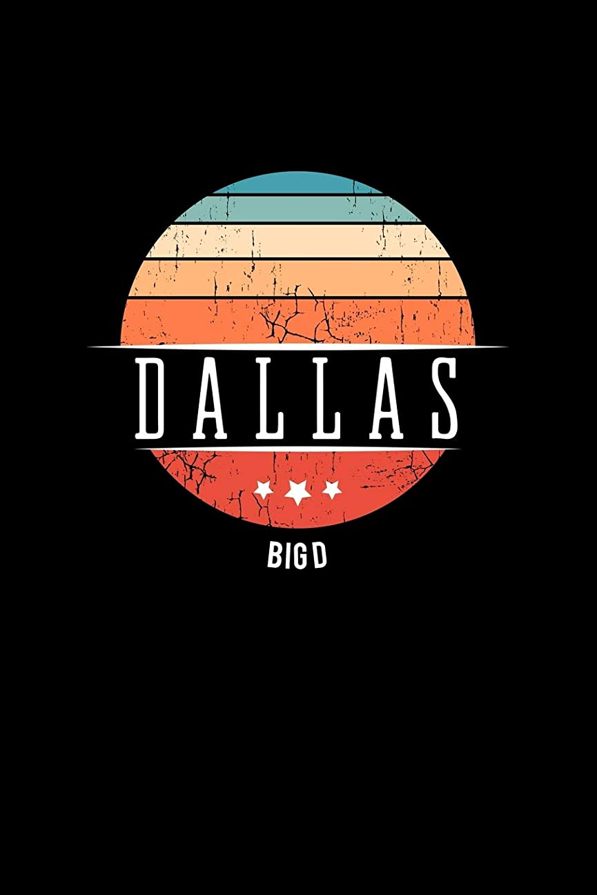 複雑並外れて階Dallas Big D: Vintage City Trip Souvenir Blank Journal Notebook