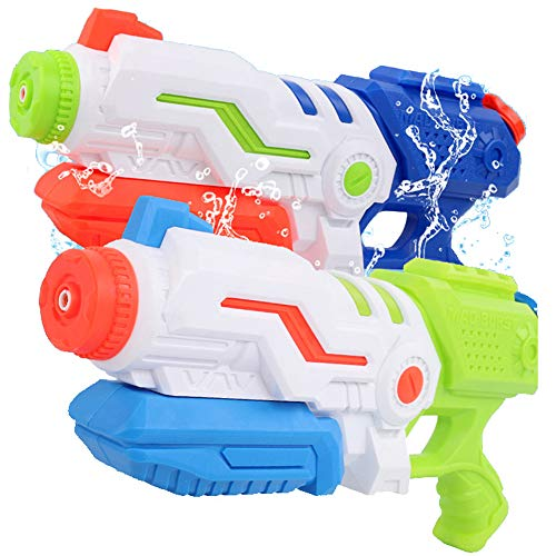 Liberty Imports Max Burst Super Water Gun High Capacity 600ml Power Soaker Blaster - Kids Toy Swimming Pool Beach Sand Water Fighting (2 Pack)