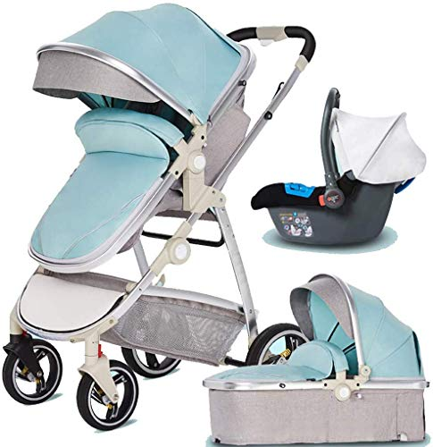 Great Features Of Lightweight 3 in 1 Baby Stroller Compact Pushchair Umbrella Stroller Baby Pram for...