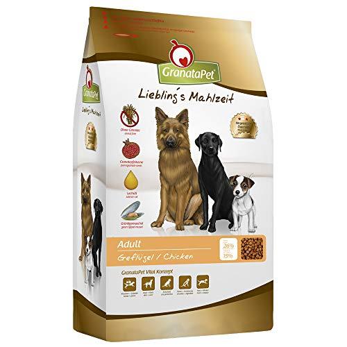 GranataPet Liebling's Mahlzeit Adult Geflügel, Trockenfutter für Hunde, Hundefutter ohne Getreide & ohne Zuckerzusätze, Alleinfuttermittel, 4 kg