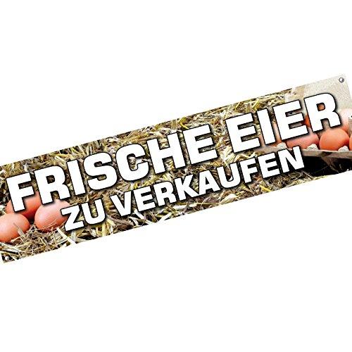 KDS Frische Eier Spannbanner Banner Werbebanner 2 x 0,5 Meter Plakat