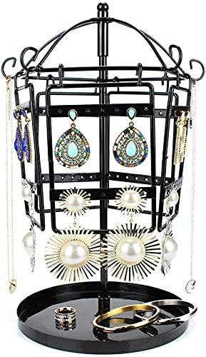 Soporte de metal para pendientes, pendientes, collares, pulseras, soporte