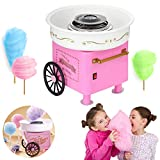 Nostalgia Vintage Hard and Sugar Free Countertop Cotton Candy Maker, Mini Cotton Candy Maker for Kids,Classic Cotton Candy Maker Creative Gift White