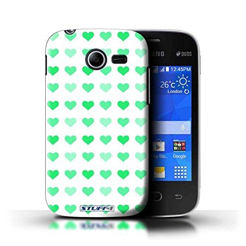 Stuff4 hoes/hoes voor Samsung Galaxy Pocket 2 / groen patroon/hart liefde sjabloon collectie