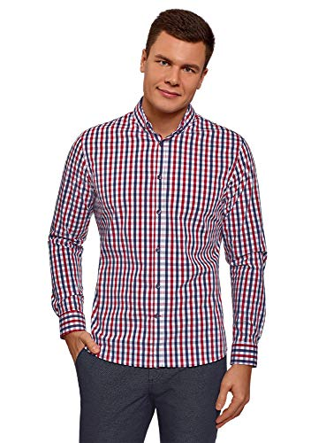 camisa a cuadros pequeños, camisas a cuadros para hombre