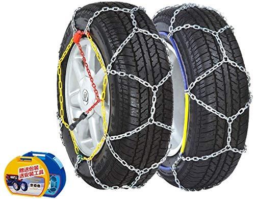 Cadena antideslizante para neumáticos de nieve, antideslizante Cadenas de ruedas de neumáticos de emergencia para automóviles Cadenas de ruedas para neumáticos de nieve antideslizantes para autom