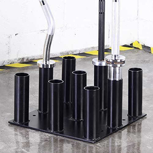 """JSQC Barbell Bar Storage Rack Big Hole Bar Inserting Fits 2 """"Bar, Barbell Holder 9 Bars Vertical Storage Display Rack para Barra olímpica, Barra de Entrenamiento de Fuerza"""
